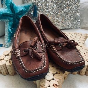 L.L.Bean Driving Moccasins Loafers 10W Brown NWOB